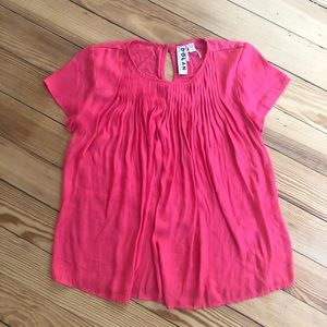 Anthropologie | Dolan red pleated top nwot xs